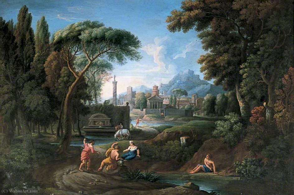 Wikioo.org - The Encyclopedia of Fine Arts - Painting, Artwork by Hendrik Frans Van Lint - Classical italian landscape