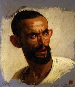 Kabyle head, Algeria (1861)