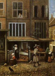 Street Scene with bakery