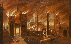 The Great Fire of London, (1666)