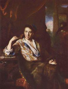 Portrait of the miniaturist K. Bruni