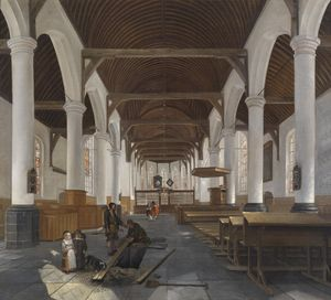 The interior of a baroque church
