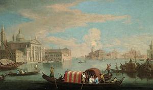 La Isla de San Giorgio Maggiore, Venecia, desde el Bacino di San Marco