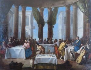 The Marriage in Cana by Johann Heinrich Schönfeld, Hermitage