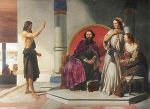The Baptist Reproving Herod