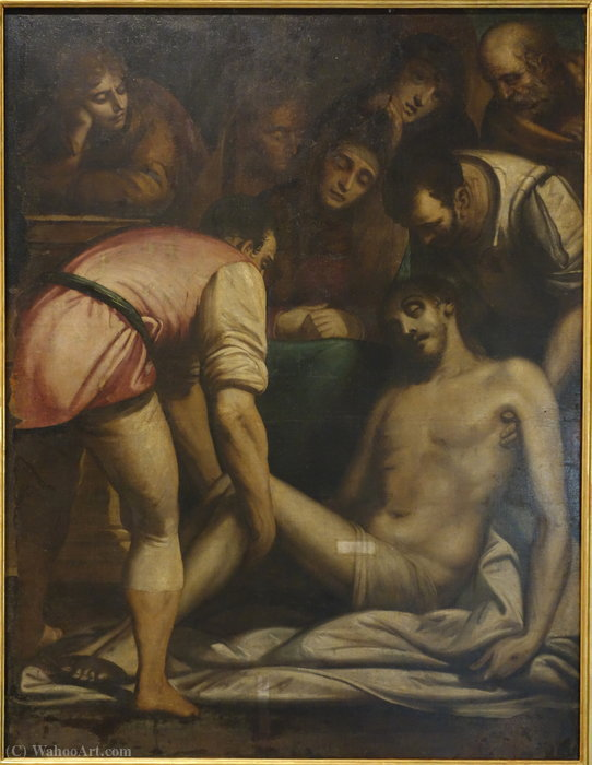 Wikioo.org - The Encyclopedia of Fine Arts - Painting, Artwork by Luca Cambiaso - The deposition