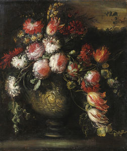 Still life with flowerpot
