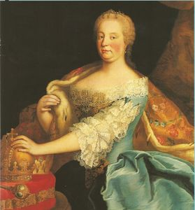 Empress Maria Theresa as Queen of Hungary.