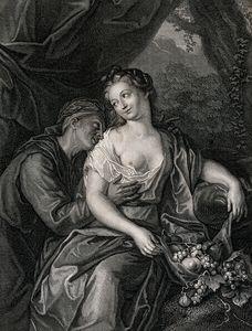 Vertumnus and Pomona as lovers