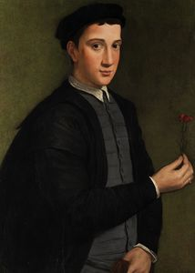 Young man with a carnation