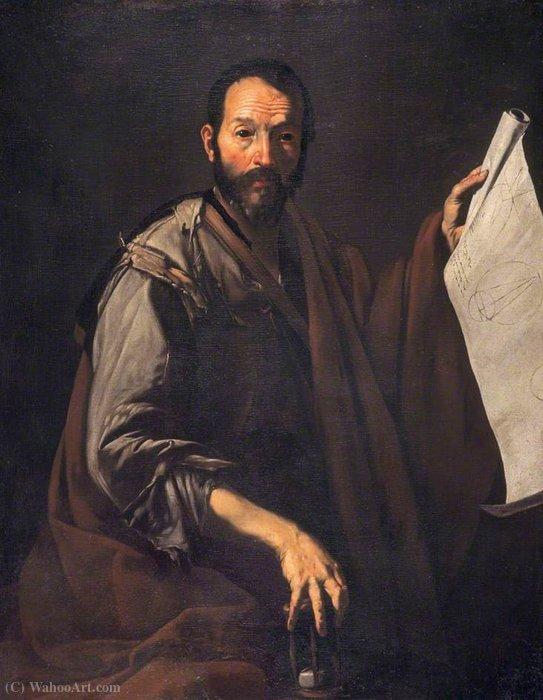 A Philosopher (A Mathemetician) - Pietro Novelli | Wikioo.org - The Encyclopedia of Fine Arts