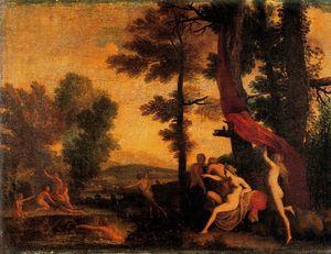 Diana y Calisto ninfa
