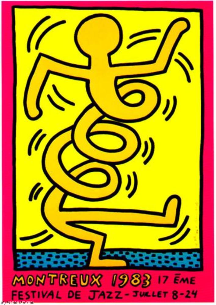 Wikioo.org - The Encyclopedia of Fine Arts - Painting, Artwork by Keith Haring - Montreux