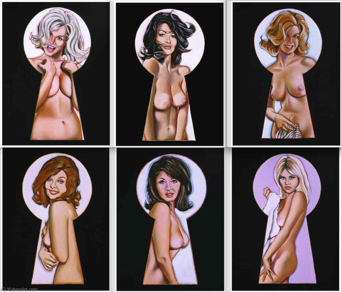 Wikioo.org - The Encyclopedia of Fine Arts - Painting, Artwork by Mel Ramos - Vintage peek-a-boo portfolio