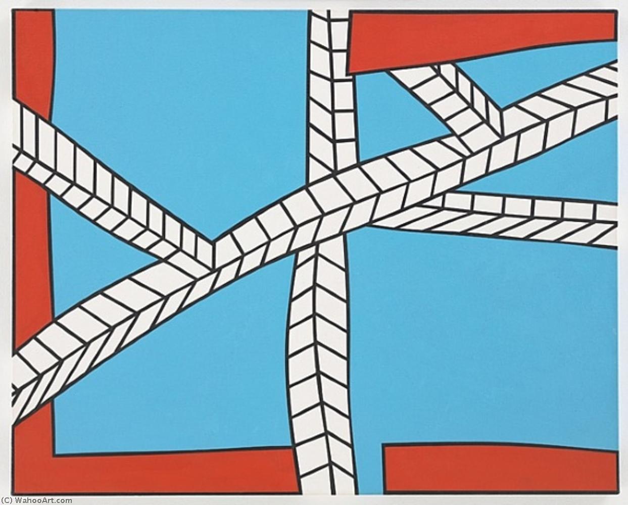 Wikioo.org - The Encyclopedia of Fine Arts - Painting, Artwork by Nicholas Krushenick - Skyscape II