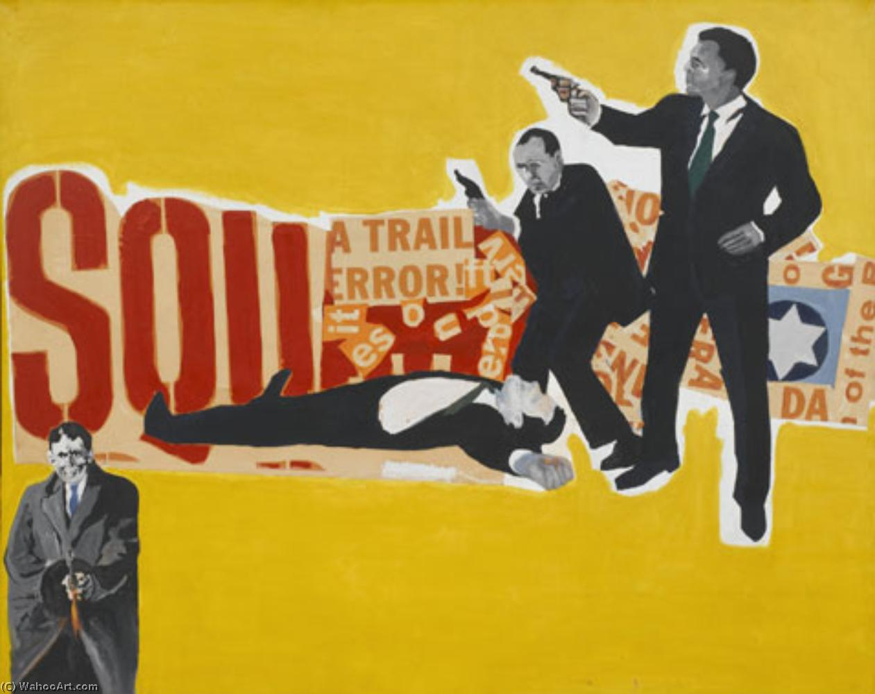 Wikioo.org - The Encyclopedia of Fine Arts - Painting, Artwork by Rosalyn Drexler - The defenders