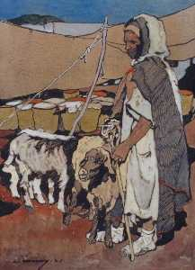 Herdsman of the Atlas Mountains - Léon Cauvy