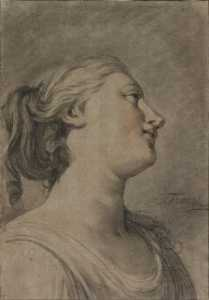 Head of a Female Figure in Profile, Turned to the Right