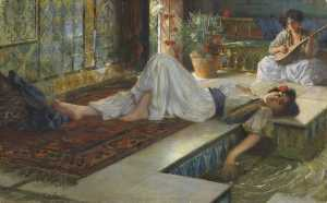 Leisure of the Odalisques (Muße der Odalisken) - Ferdinand Max Bredt