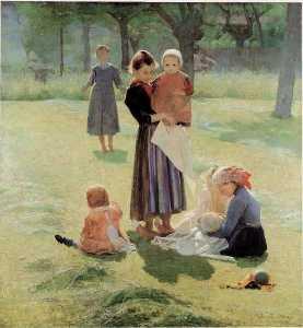 Motherhood - Giuseppe Pellizza Da Volpedo
