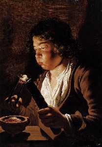 Fire and Youth (also known as Boy with Tongs and Torch)