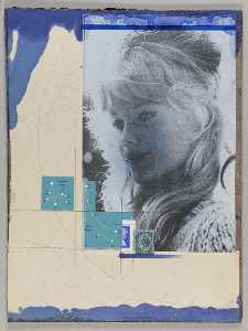 Untitled (long haired blond female in 3 4 profile)