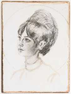 Untitled (Francesca, young female with bouffant hairdo)