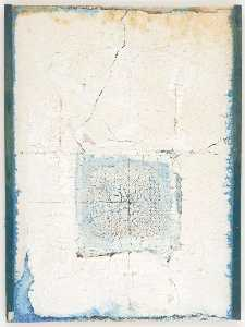 Untitled (light blue paint in rectangular area)