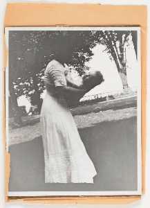 Untitled (Joseph Cornell's mother holding sister Elizabeth )