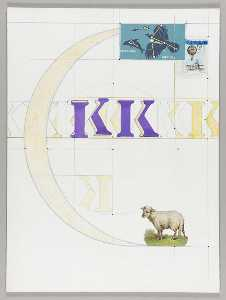 Untitled (stencil letters K in yellow)
