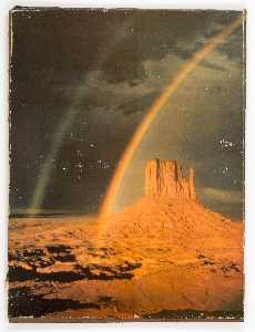 Untitled (double rainbow over desert)