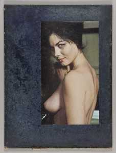 Untitled (nude female, bust length and side view)