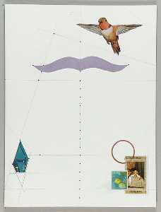 Untitled (cutout of bird in flight)