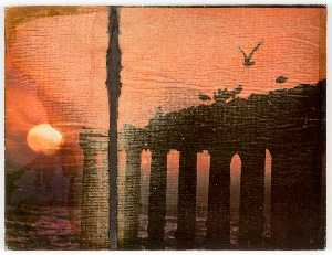 Untitled (Birds, Columns, Sunset)