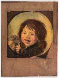 Untitled (Franz, paintings of laughing boy)