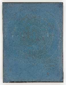 Untitled (manila paper stained blue)