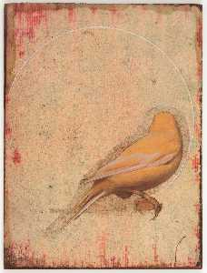 Untitled (yellow canary with back turned)