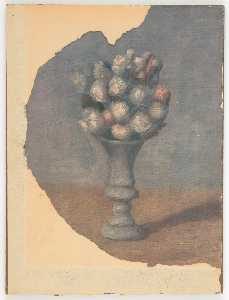 Untitled (painting of vase with flowers on table)