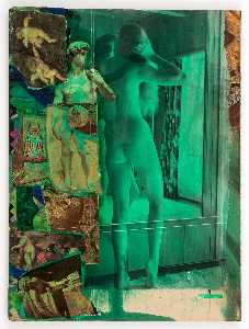 Untitled (standing nude before mirror)