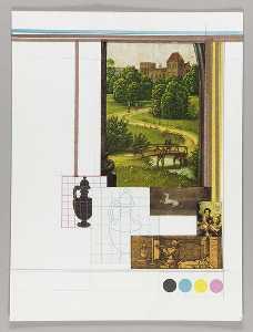Mathematics and Art (Northern Renaissance landscape, man walking over bridge)