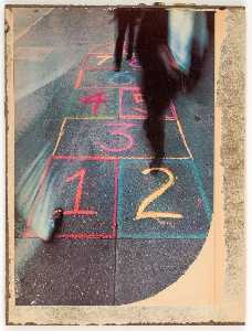 Untitled (colored chalk, hopscotch)