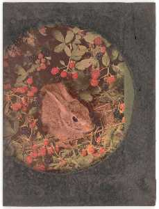 Untitled (rabbit in raspberry patch)