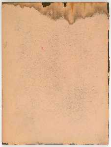Untitled (manila paper with pale tan and yellow staining)