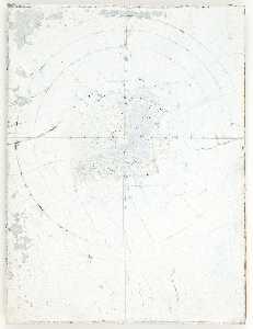 Untitled (white cracked paint over clock image)