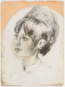 Untitled (young female with bouffant hairdo)