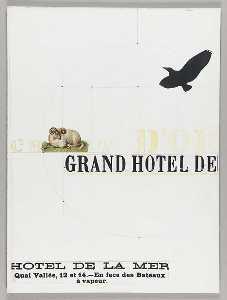 Untitled (hotel advertisement, Hotel de la Mer, Quai Vallee, 12 et 14)