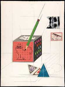Metaphysics of Erotica (cube with connect the dot cat)