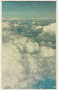Untitled (aerial shot of nimbus clouds and blue sky)