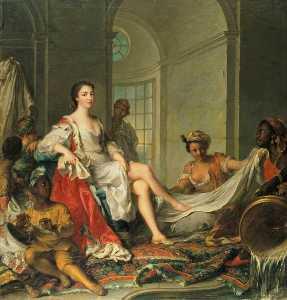 Mademoiselle de Clermont 'en sultane'