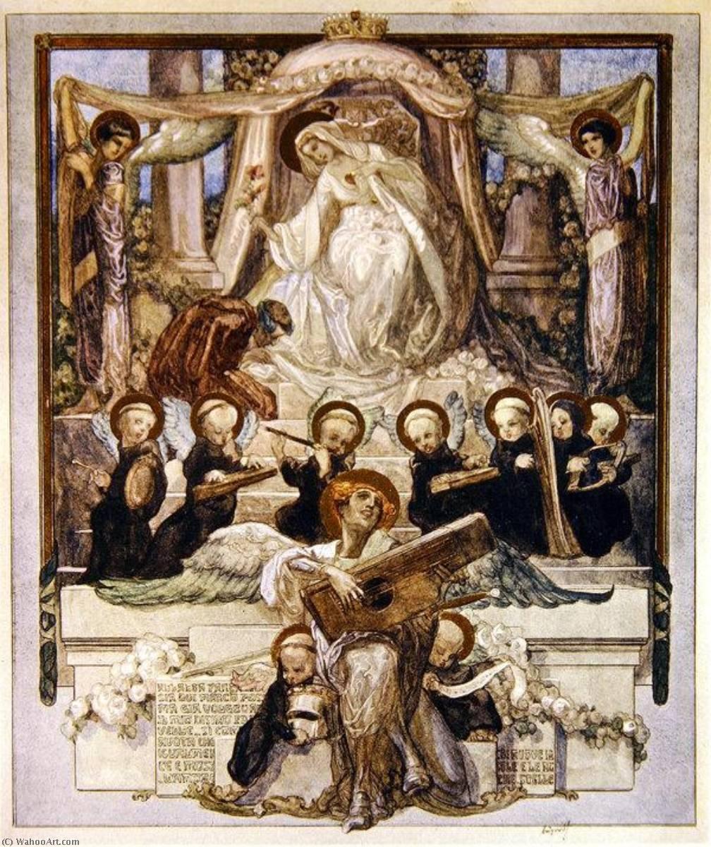 WikiOO.org – 美術百科全書 - 繪畫,作品 Franz Von Bayros - 插图 从 Dante's 'Divine Comedy' , 天堂 , 颂歌 三十三